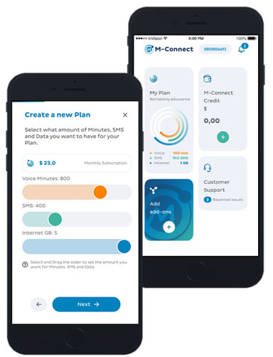 M-connect service on mobile app