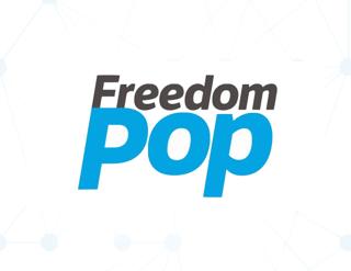 FreedomPop Blue and Black Logo, Mobilise Blue Nodes Background