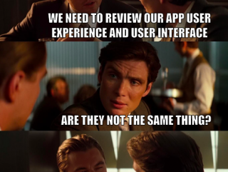 App user experience and user interface