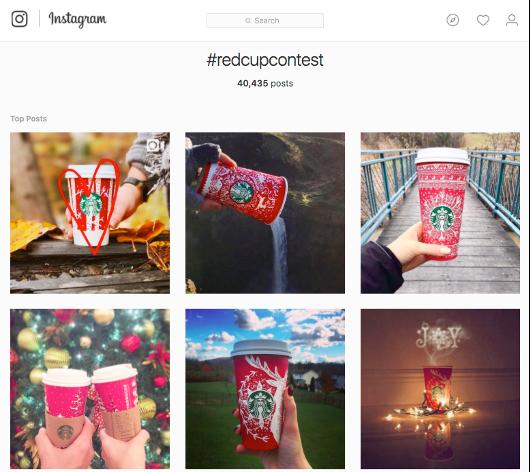 Starbucks, hastag campaign, Instagram, Sturbucks cups