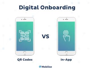 Digital Onboarding - OR codes VS In-App